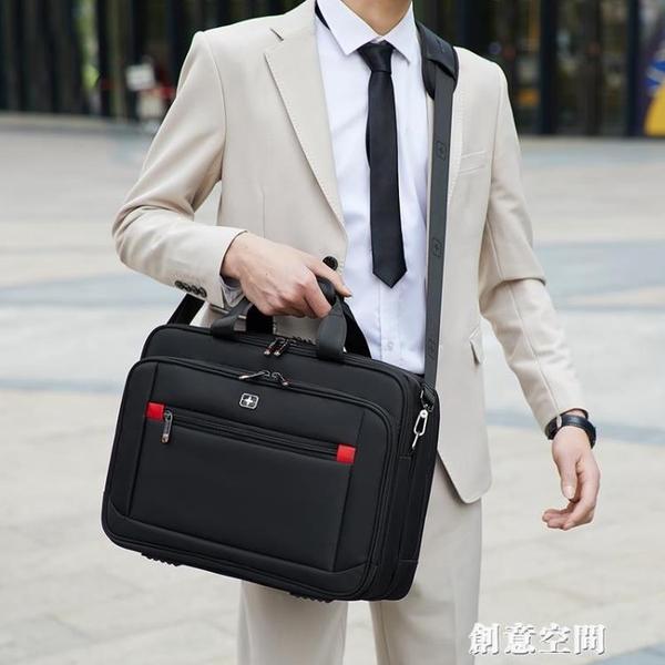 軍士刀電腦包男士手提商務出差旅行公文包大容量單肩斜挎背包 創意新品