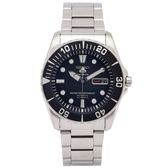 SEIKO SPORTS系列的機械手錶(SNZF17J1)-黑面X黑色框/40mm