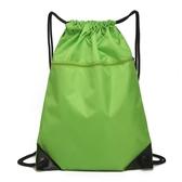 防水束口袋抽繩雙肩包 男女戶外大容量旅游旅行包跑步運動收納包 小宅女