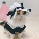 寵物cos衣服 .*Moka喵*寵物衣服貓咪狗狗衣服cos貓女仆裝制服變身帽套裝連衣裙