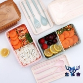 便當盒分格日式午餐盒飯盒分隔型上班族簡約個性【古怪舍】
