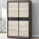 衣櫃 衣櫥 PK-540-2 雙色4X7推門衣櫥【大眾家居舘】