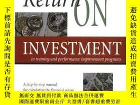 二手書博民逛書店Return罕見on Investment in Trainin
