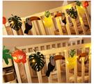 【韓風童品】熱帶雨林大嘴鳥裝飾彩旗掛飾 拍攝背景裝飾旗 生日拍照道具佈置 櫥窗舞臺佈置