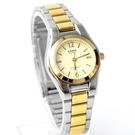 CASIO卡西歐金銀配色時尚女腕錶 不鏽鋼錶帶 自信閃耀 柒彩年代【NEC124】