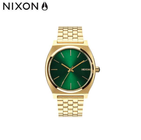 NIXON 手錶 原廠總代理 A045-1919 Time Teller 金綠 潮流時尚鋼錶帶 男女適用 運動 生日 情人節禮物