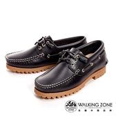 【南紡購物中心】WALKING ZONE 經典款 帆船雷根鞋 男鞋 黑藍(另有咖啡)