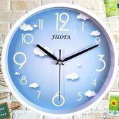 卡通時尚創意歐式圓形電子壁掛鐘靜音時鐘石英錶QM 依凡卡時尚