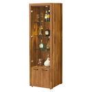 【森可家居】克里斯2尺展示櫃 7ZX378-3 客廳收納 玻璃 酒櫃 木紋質感 無印風 北歐風