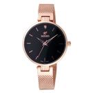 MIRRO 閃耀時刻腕錶-玫瑰金X黑