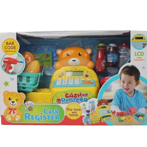 小熊計算收銀機 35561 大型電動收銀機玩具(附電池)/一盒入{促600}~CF130775