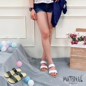 拖鞋 簡約雙帶平底拖鞋 MA女鞋 T18002