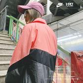 IMPACT Nike Sportwear Swoosh Logo 粉 灰 大勾 風衣 外套 夾克 AR3133-668
