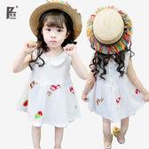 棉質女童裙子寶寶夏裝小女孩嬰幼兒童1連衣裙2小童3周歲夏季潮