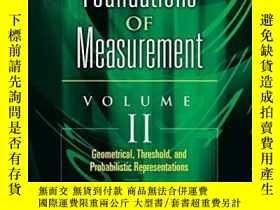 二手書博民逛書店Foundations罕見Of Measurement Volume IiY256260 David H. K