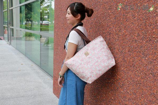 肩背包 包包 防水包 雨朵小舖 U012-0011 棉繩特大水餃包-粉台灣特色文化 uma hana
