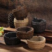 煙灰缸創意復古陶瓷歐式時尚個性辦公室擺件酒吧咖啡廳裝飾品水泥 七夕節禮物