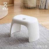 懶角落 加厚小凳子簡約矮凳子兒童家用塑料板凳小椅子換鞋凳 FX1799 【毛菇小象】
