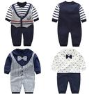 長袖嬰兒兔裝 純棉連身裝 假兩件寶寶童裝...