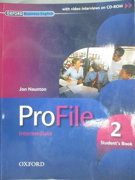 【書寶二手書T9/語言學習_JHS】ProFile 2 Intermediate_Jon