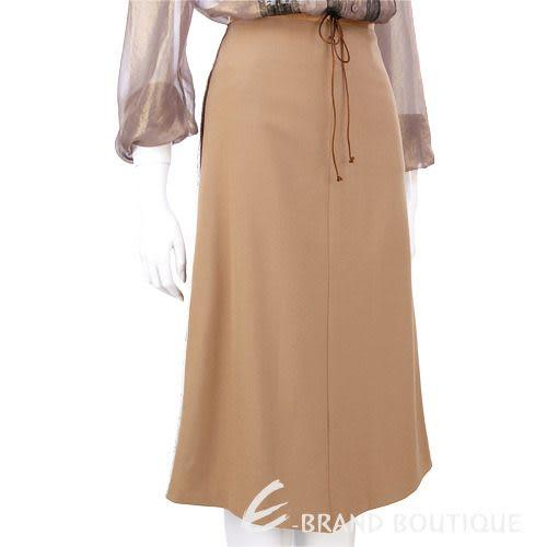 Lorella Braglia 棕色滾邊設計綁帶及膝裙 0510668-02