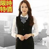 西裝套裝(長袖裙裝)-辦公上班族立體修身時尚優雅OL制服66x35[巴黎精品]