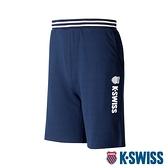 【超取】K-SWISS Vintage Knit Shorts棉質短褲-男-藍
