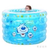 新生嬰兒寶寶充氣游泳池家用加厚兒童游泳桶池戲水池泡澡桶  LN4369【東京衣社】