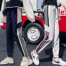 三條線運動褲 三槓寬鬆休閒褲 鬆緊腰街舞褲 3色 M-2XL碼【RK67299】