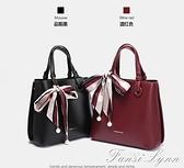 女包2021新款時尚媽媽包中年手提包單肩斜挎包大容量包包 范思蓮恩
