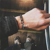 手環手鐲 鈦鋼手鍊歐美潮牌男士學生開口 韓版個性時尚潮女手環 俏腳丫