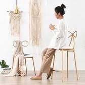 北歐鐵藝吧臺椅吧椅創意吧凳吧臺凳高腳凳 簡約休閒餐椅餐廳椅子