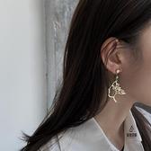 耳墜高級感大氣耳飾珍珠人臉耳環女抽象設計感時尚氣質【愛物及屋】