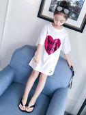 女孩洋氣短袖t恤兒童裝半袖上衣