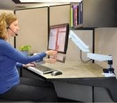 螢幕架 氣壓顯示器支架桌面萬向旋轉升降伸縮底座電腦掛架顯示器屏幕jy【快速出貨八折搶購】