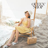 Queen Shop【01084045】背簍空雙綁帶造型洋裝*預購*