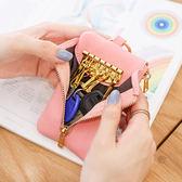 零錢包梨花娃娃女式鑰匙包女迷妳韓國多功能可愛簡約創意小零錢鎖匙包扣 艾維朵