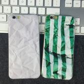 [24hr-現貨快出] iphone 6 s plus創意 褶皺 紙張 iphone6s 手機殼 軟殼 TP0U 個性 惡搞 簡約 保護套