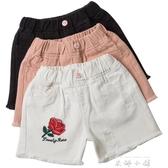 女童牛仔短褲2019新款韓版時尚夏中大童12-15歲寬鬆白色外穿薄款   米娜小鋪