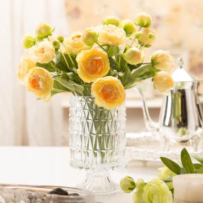 模擬花假花 套裝 花藝 客廳餐桌 裝飾花 花瓶 -bri010023