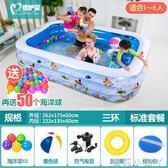 泳池嬰兒童游充氣家庭嬰兒成人家用海洋球池加厚超大號戲水池 igo 全館免運