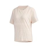 adidas 短袖T恤 FAV BL Tee 粉紅 白 女款 男友風 運動 訓練 【ACS】 GK3332