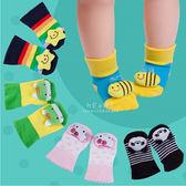 可愛立體娃娃防滑嬰兒地板襪 童襪 止滑襪 短襪 嬰兒襪