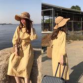沙灘帽子女夏季小清新海邊出游可折疊大沿防曬太陽帽度假遮陽
