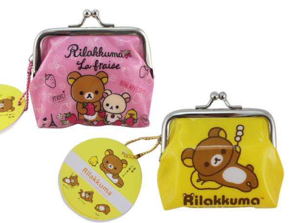 【卡漫城】 拉拉熊 雙珠扣式 零錢包 2款選1 ㊣版 懶懶熊 Rilakkuma 小雞 草莓 小白熊 丸子 貢丸 日版