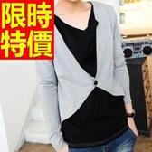 長袖毛衣焦點熱銷-隨性優質假兩件式男襯衫 2色59ac15【巴黎精品】