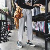 西褲夏季港風九分褲西褲韓版休閒直筒西裝褲潮流寬鬆9分闊腿褲男薄款 曼莎時尚