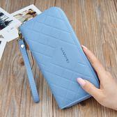 長夾 女士錢包長款拉鏈流蘇簡約時尚大容量手拿包軟皮手機包 巴黎春天