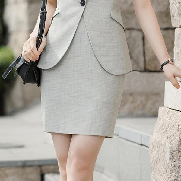 氣質格紋上班窄裙[21X079-PF]美之札