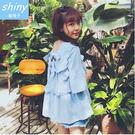 【V1650】shiny藍格子-女孩風味...